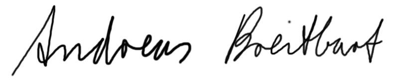 Personal Trainer Unterschrift